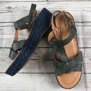 Kork Ease   ANDE Blue T Strap Espadrille Sandal
